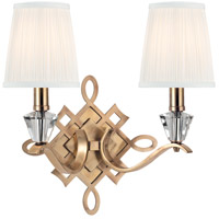 Fowler 2 Light 15 inch Aged Brass Wall Sconce Wall Light