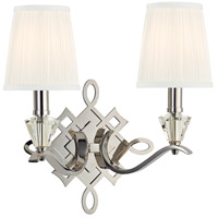 Hudson Valley Lighting Fowler 2 Light Wall Sconce in Polished Nickel 8182-PN