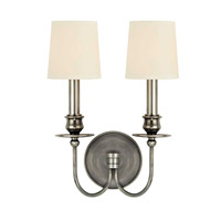 Cohasset 2 Light 10 inch Aged Silver Wall Sconce Wall Light in Eco Paper