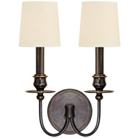 Cohasset 2 Light 10 inch Old Bronze Wall Sconce Wall Light in Eco Paper