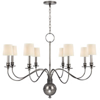Hudson Valley 8218-AS Cohasset 8 Light 40 inch Aged Silver Chandelier Ceiling Light in Eco Paper