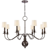 Cohasset 8 Light 40 inch Old Bronze Chandelier Ceiling Light in Eco Paper