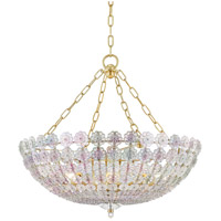 Hudson Valley 8224-AGB Floral Park 8 Light 25 inch Aged Brass Chandelier Ceiling Light