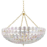Hudson Valley 8234-AGB Floral Park 12 Light 34 inch Aged Brass Chandelier Ceiling Light