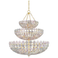 Hudson Valley 8239-AGB Floral Park 24 Light 34 inch Aged Brass Chandelier Ceiling Light