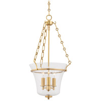 Hudson Valley Lighting Eaton 3 Light Pendant in Aged Brass 831-AGB