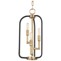 Angler 3 Light 10 inch Aged Brass Chandelier Ceiling Light