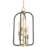 Angler 4 Light 15 inch Aged Brass Chandelier Ceiling Light