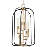 Angler 6 Light 20 inch Aged Brass Chandelier Ceiling Light