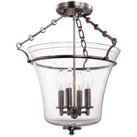 Eaton 4 Light 16 inch Historic Nickel Semi Flush Ceiling Light