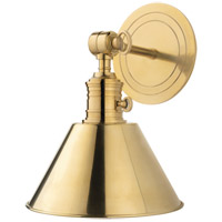 Garden City 1 Light 8 inch Aged Brass Wall Sconce Wall Light