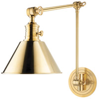 Hudson Valley Lighting Garden City 1 Light Wall Sconce in Aged Brass 8323-AGB