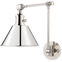 Hudson Valley Lighting Garden City 1 Light Wall Sconce in Polished Nickel 8323-PN