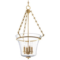 Eaton 4 Light 16 inch Aged Brass Pendant Ceiling Light