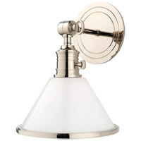 Hudson Valley Lighting Garden City 1 Light Wall Sconce in Polished Nickel 8331-PN