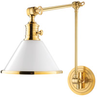 Hudson Valley Lighting Garden City 1 Light Wall Sconce in Aged Brass 8333-AGB