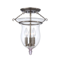 Hudson Valley Lighting Ulster 3 Light Semi Flush in Historic Nickel 840-HN