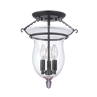 Hudson Valley Lighting Ulster 3 Light Semi Flush in Old Bronze 840-OB
