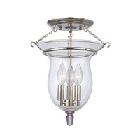 Hudson Valley Lighting Ulster 3 Light Semi Flush in Polished Nickel 840-PN