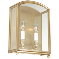 Millbrook 2 Light 10 inch Aged Brass Wall Sconce Wall Light