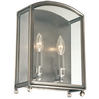 Millbrook 2 Light 10 inch Historic Nickel Wall Sconce Wall Light