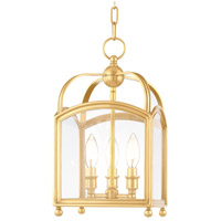 Hudson Valley Lighting Millbrook 3 Light Pendant in Aged Brass 8409-AGB