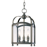 Millbrook 3 Light 9 inch Historic Nickel Pendant Ceiling Light
