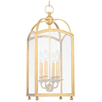 Hudson Valley Lighting Millbrook 4 Light Pendant in Aged Brass 8410-AGB
