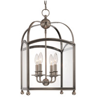 Hudson Valley Lighting Millbrook 4 Light Pendant in Historic Nickel 8412-HN photo thumbnail