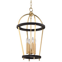 Hudson Valley 8413-AGB Chesterfield 4 Light 15 inch Aged Brass Pendant Ceiling Light