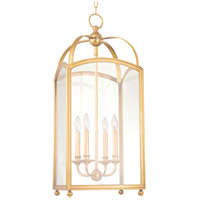 Hudson Valley 8414-AGB Millbrook 4 Light 14 inch Aged Brass Chandelier Ceiling Light photo thumbnail
