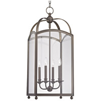 Hudson Valley 8414-DB Millbrook 4 Light 14 inch Distressed Bronze Chandelier Ceiling Light
