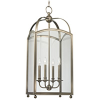 Millbrook 4 Light 14 inch Historic Nickel Chandelier Ceiling Light
