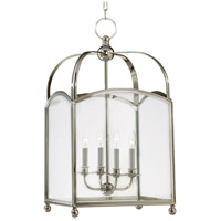 Hudson Valley 8416-HN Millbrook 4 Light 16 inch Historic Nickel Pendant Ceiling Light