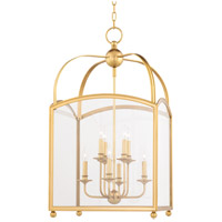 Hudson Valley 8420-AGB Millbrook 8 Light 20 inch Aged Brass Pendant Ceiling Light