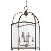 Hudson Valley Lighting Millbrook 8 Light Pendant in Distressed Bronze 8420-DB