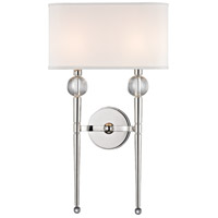 Rockland 2 Light 13 inch Polished Nickel Wall Sconce Wall Light