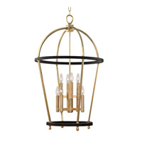 Chesterfield 8 Light 23 inch Aged Brass Pendant Ceiling Light