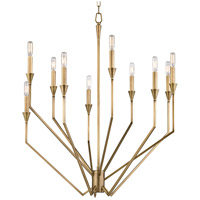 Archie 10 Light 30 inch Aged Brass Chandelier Ceiling Light