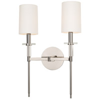 Amherst 2 Light 13 inch Polished Nickel Wall Sconce Wall Light