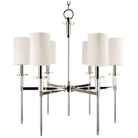 Hudson Valley 8516-PN Amherst 6 Light 25 inch Polished Nickel Chandelier Ceiling Light