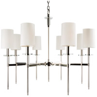 Hudson Valley 8518-PN Amherst 8 Light 32 inch Polished Nickel Chandelier Ceiling Light