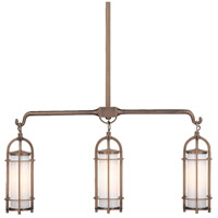 Portland 3 Light 32 inch Historic Bronze Island Light Ceiling Light