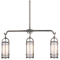 Portland 3 Light 32 inch Historic Nickel Island Light Ceiling Light