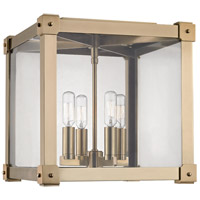 Hudson Valley Lighting Forsyth 4 Light Flush Mount in Aged Brass 8600-AGB