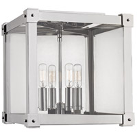 Hudson Valley Lighting Forsyth 4 Light Flush Mount in Polished Nickel 8600-PN