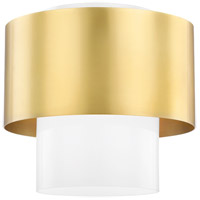 Hudson Valley 8609-AGB Corinth 1 Light 11 inch Aged Brass Flush Mount Ceiling Light