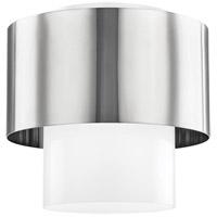 Hudson Valley 8609-PN Corinth 1 Light 11 inch Polished Nickel Flush Mount Ceiling Light