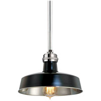 Hudson Falls 1 Light 10 inch Black and Polished Nickel Pendant Ceiling Light in Black Polished Nickel