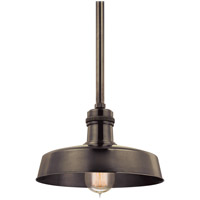 Hudson Falls 1 Light 10 inch Distressed Bronze Pendant Ceiling Light